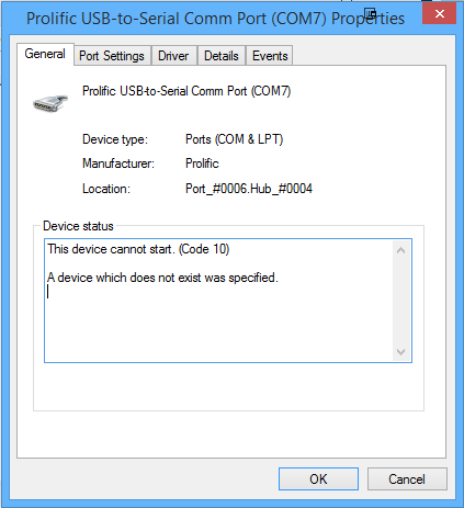 Fake pl2303 how to install on windows 8 1 bartb - Prolific usb to serial comm port ...
